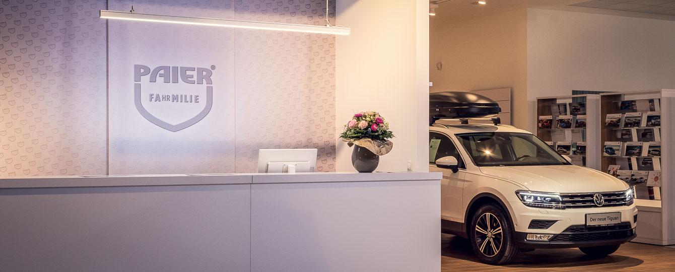 Fahrmilie Paier...auf jeden Fall persönlicher! Fahrmilie spüren. Fachwerkstätte, VW AUDI SEAT Servicecenter. Ihre Fahrmilie